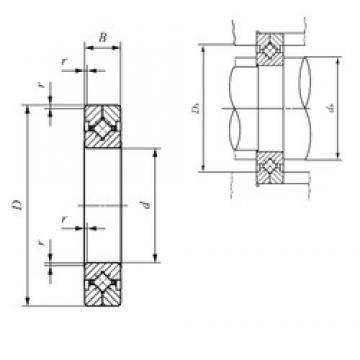 600 mm x 700 mm x 40 mm  IKO CRBC 80070 Rodamientos Axiales De Rodillos