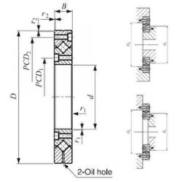 80 mm x 165 mm x 22 mm  IKO CRBF 8022 AD Rodamientos Axiales De Rodillos