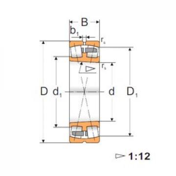 70 mm x 125 mm x 31 mm  FBJ 22214K Rodamientos De Rodillos Esféricos