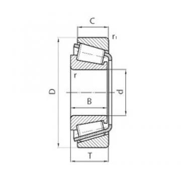 105 mm x 160 mm x 43 mm  CYSD 33021 Rodamientos De Rodillos Cónicos