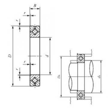 120 mm x 180 mm x 25 mm  IKO CRBH 12025 A Rodamientos Axiales De Rodillos
